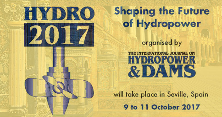 Studio Masciotta will participate to Hydro 2017, 9-11 October, Sevilla